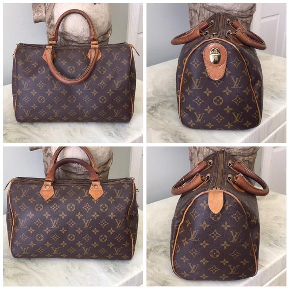 96afd8afb3b3 Louis Vuitton Handbags - Louis Vuitton Vintage French Company Speedy 30